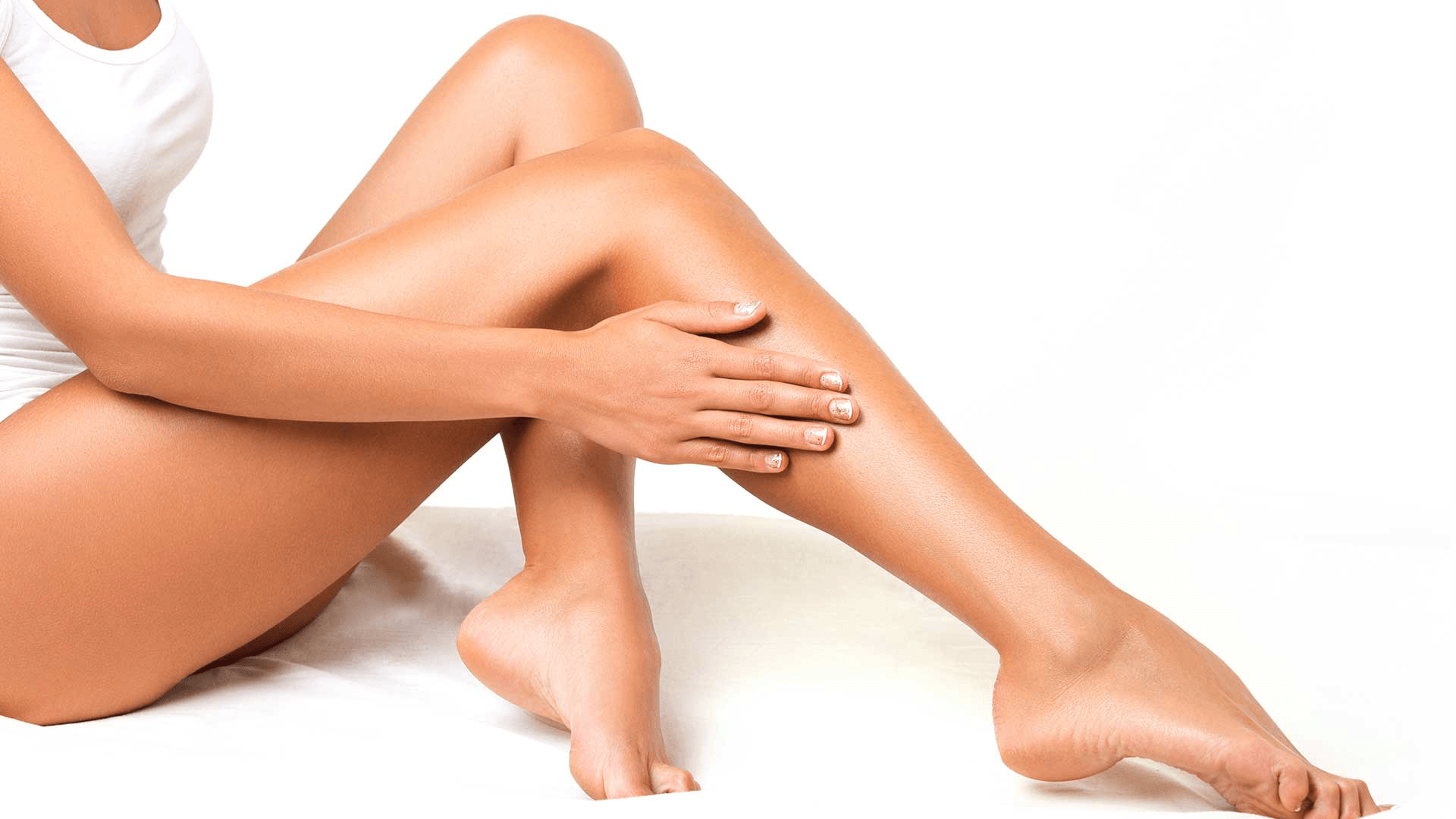 jambe épilée d'une femme