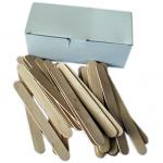 100 spatules en bois jetables